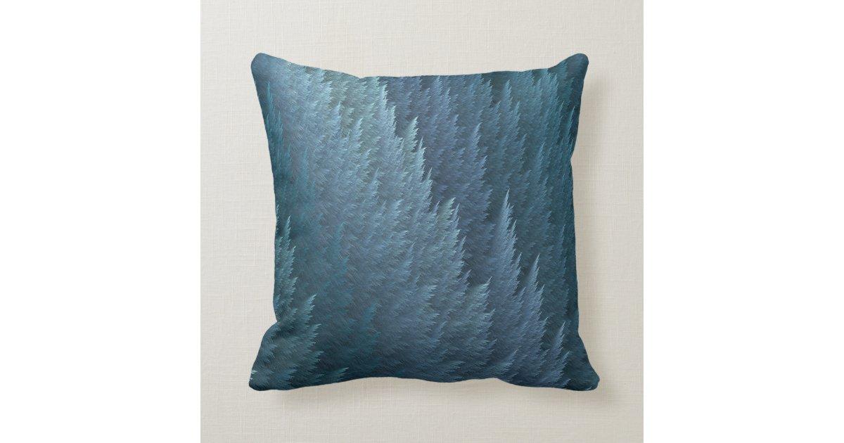 Throw Pillows With Feather Design : Teal Tartan Feather Pattern Design Throw Pillow Zazzle