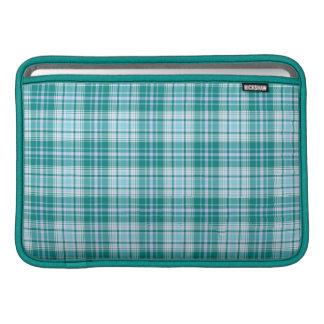 """Teal Tartan MacBook Air Sleeve 11"""""""