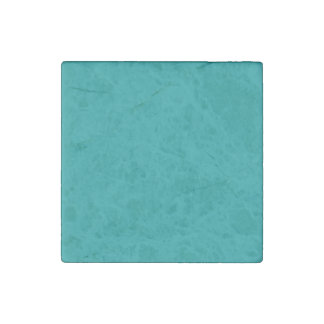 Teal Template Stone Magnet