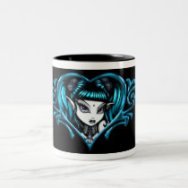 gothic, fantasy, myka jelina, terra, tattoo, fairies, art, Mug with custom graphic design