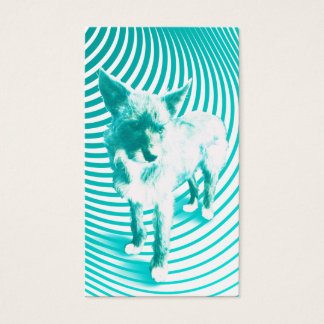 teal terrier business card