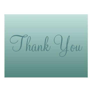 Professional Business Teal Thank You Postcard