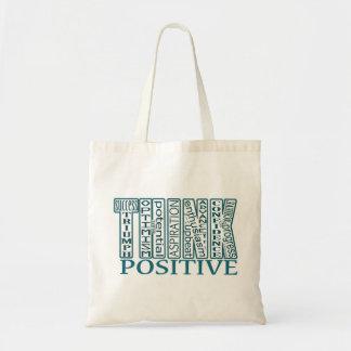 Teal Think Positive Bag