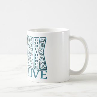 Teal Think Positive Mug