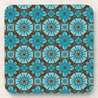 Teal Tile Beverage Coaster