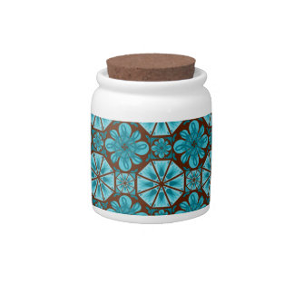 Teal Tile Candy Dishes