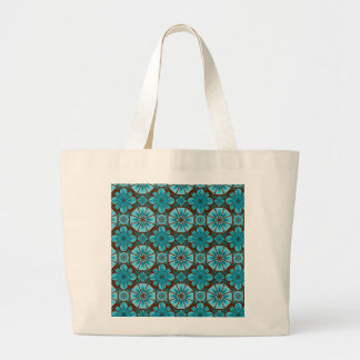Teal Tile Canvas Bags