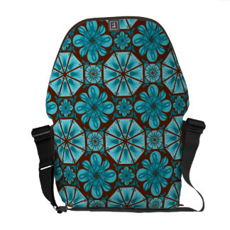 Teal Tile Commuter Bag