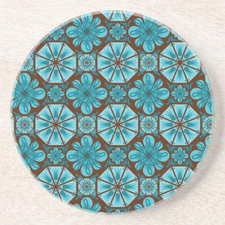 Teal Tile Drink Coasters