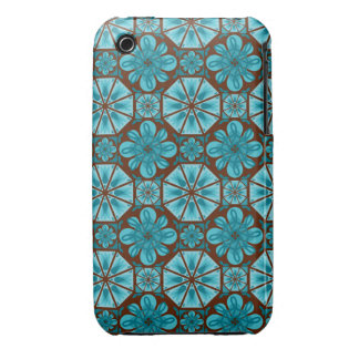 Teal Tile iPhone 3 Cover