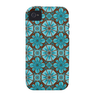 Teal Tile iPhone 4/4S Cover