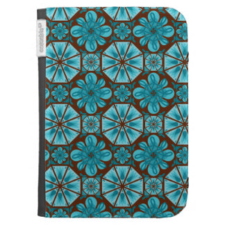 Teal Tile Kindle Covers