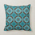 Teal Tile Pillow