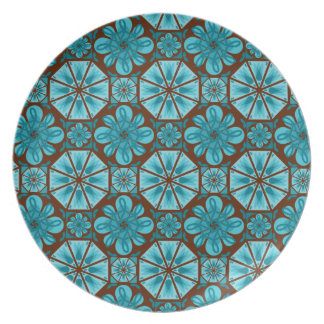 Teal Tile Plate