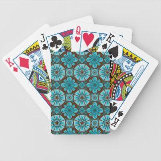 Teal Tile Poker Cards