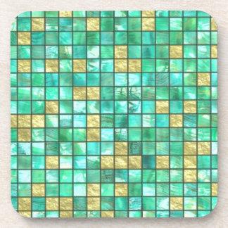 Teal Tiles Drink Coasters