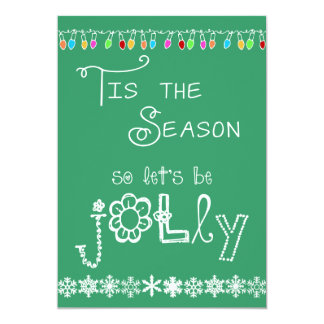 Teal Tis the Season Holiday Party Invitation