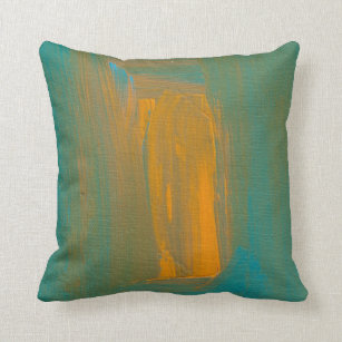 Teal And Orange Pillows Decorative Throw Pillows Zazzle
