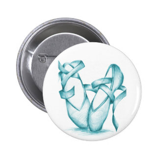 Teal Toe-Shoes Pinback Button