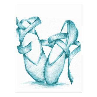 Teal Toe-Shoes Postcard