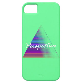 Teal Triangle Perspective iPhone Case
