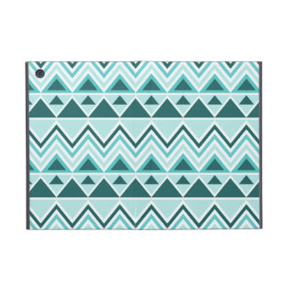 Teal Tribal Chevron Triangles Mountain iPad Mini Covers For iPad Mini