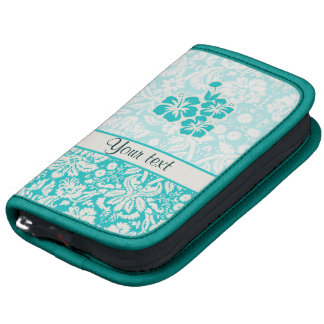 Teal Tropical Flowers Planners