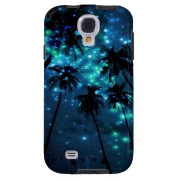 Teal Tropical Paradise Samsung Galaxy S4 Case