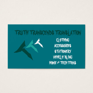 Teal truth biz card