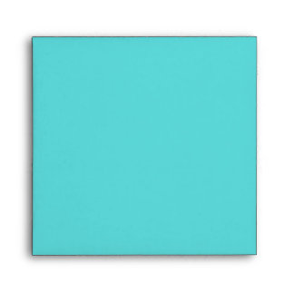 Teal Turquoise Blank Envelope