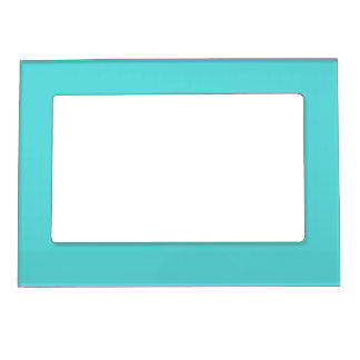 Teal Turquoise Blank Frame Magnets