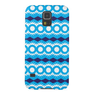 Teal Turquoise Blue Geometric Pattern Design Case For Galaxy S5