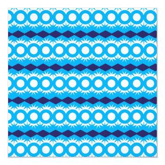 Teal Turquoise Blue Geometric Pattern Design Invitation