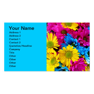 Teal Turquoise Blue Gerber Daisies Business Cards