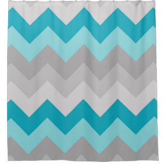 Nickbarronco 100 Grey And Turquoise Shower Curtain
