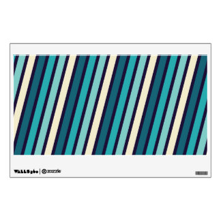 turquoise stripes wall decals wall stickers zazzle