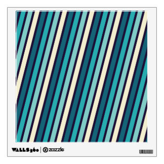 turquoise stripes wall decals amp wall stickers zazzle stripe wall pattern decal modern vinyl art stickers