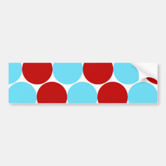 Teal Turquoise Red Big Polka Dots Pattern Gifts Bumper Sticker