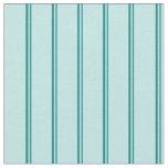 [ Thumbnail: Teal & Turquoise Stripes/Lines Pattern Fabric ]