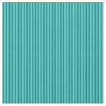 [ Thumbnail: Teal & Turquoise Stripes Pattern Fabric ]