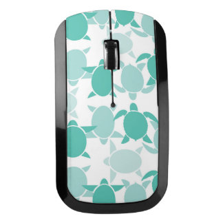 Teal Turtle Pattern Wireless Mouse