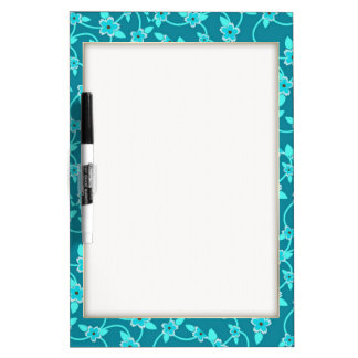 Teal Twining Vines Dry-Erase Board