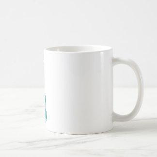 teal ukulele hibiscus design coffee mug