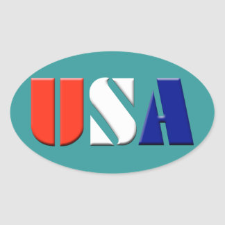 Teal USA Stickers
