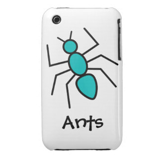 Teal Vector Ant iPhone 3 Case