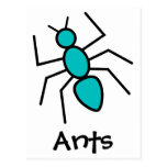 Teal Vector Ant Postcard