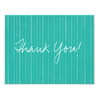 Teal Vintage Flat Thank You Cards
