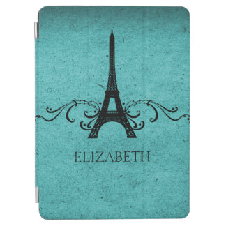 Teal Vintage French Flourish iPad Air Cover