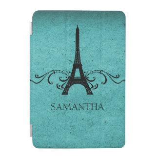 Teal Vintage French Flourish iPad Mini Cover