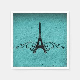 Teal Vintage French Flourish Napkin